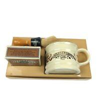 1976 Barbershop Old Fashioned Luxury Shaving Mug 'N Brush Set Franklin Toiletry