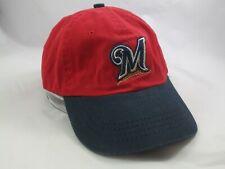 Milwaukee Brewers Hat Red Blue Logo Athletic Puma Strapback MLB Baseball Cap