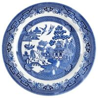 Willow Blue by Churchill Dinner Plate Georgian Shape England Smooth Edge Blue
