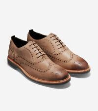 Cole Haan Morris Wingtip Oxford Taupe Nubuck US 9.5 New in Box Men's Shoe