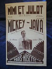 Partition Mimi e Jason Coste Topolino Java Grival Gilbert Piatto Music Sheet