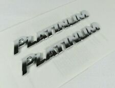 Toyota Sequoia Platinum Emblems 08-20 Rear Door Chrome Badges sign symbol logo (Fits: Toyota)
