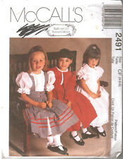 McCalls 2491 Girls Special Occasion Jacket Pinafore Dress Sewing Pattern UNUSED