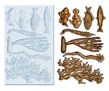 CORAL REEF - Re-Design Prima Decor Moulds Mold Food Safe 5X8 Resin #647490