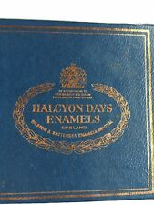 Halcyon Days Enamels Floral with Original Gift Box & storybook