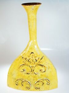 Yellow Metal Decorative Vase