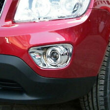 For Jeep Compass 2011-2015 Front Fog Light Lamp Cover Trim Decoration Chrome