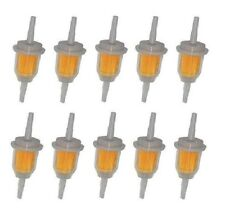 "10 PACK  6MM x 8MM  1/4""  5/16""  INLINE FUEL GAS FILTER  LAWN MOWER SMALL ENGINE"