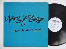 """MAXI 12"""" MARY J BLIJE Love is all we need MCAF 0020 PROMO EUROPE"""