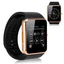 GT08 Bluetooth Smart Wrist Watch GSM Phone Sim Card For Android IOS iPhone Gold