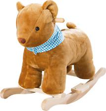 Roba Schaukeltier Schaukelbär Schaukelspielzeug Spielzeug Baer Holz braun blau