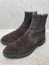 TRICKERS Henry Dealer Suede Chelsea Brown Boots Size UK 7.5 | US 8.5