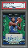 2019 Panini Prizm Rookie Signatures Eric Paschall Auto Green Choice /8 PSA 10