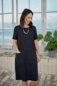 Seasalt Round Trip Dress Dark Night Size 18 New With Tags