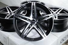 "18"" Wheels Mercedes C230 C280 C300 GLA 250 GLK350 Audi A3 A4 TT Black 5x112 Rims"