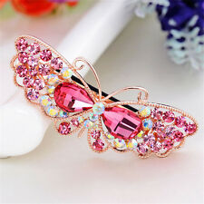 Fashion Beauty Crystal Hair Clip Butterfly Barrettes Rhinestone Headwear Women