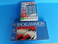 NIB- 3 FAMILY BOARD and BLOCK GAMES,1 PICTUREKA, 2 BACKGAMMON, 3 ACEY-DEUCY-NICE
