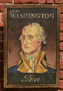 "Antique Look Repro of Original Art - Tavern Trade Sign ""Gen. Washington Inn"""