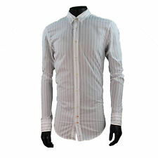HUGO BOSS Men's Striped Cotton Casual Shirts & Tops