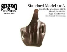 SHADO Leather Holster Model 110A RH Brown OWB TB fits Smith & Wesson 3193