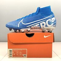 Nike Mercurial Superfly 7 Elite AG-PRO Blue Soccer Cleats AT7892-415 Men Size 6