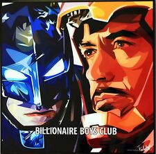 Batman & Iron Man canvas quotes wall decals photo painting pop art poster