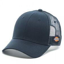 """Dickies """"Core"""" Meshback Adjustable Cap (Navy) OSFM Snapback Hat"""