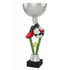 FOOTBALL METAL ACRYLIC TROPHY CUP SILVER OR GOLD *FREE ENGRAVING 330mm EXCLUSIVE