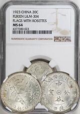 China 1923 Fukien 20 Cents NGC MS-64