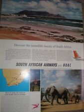 Discover the beauty of South Africa SA Airways with BOAC advert 1964 ref AY