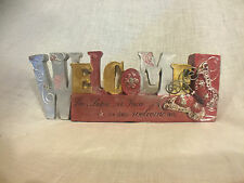 'WELCOME' Plaque - Butterfly