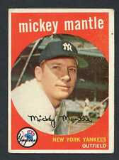 Mickey Mantle 1959 Topps Baseball #10 New York Yankees VG