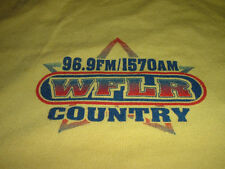 Vintage 96.9Fm/1570Am Wflr Country Music Finger Lakes Radio Station Xl shirt Ny