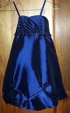 Sz 7 Gathered FORMAL BUBBLE DRESS with Curvy Shell Bodice & little Beads BNWT