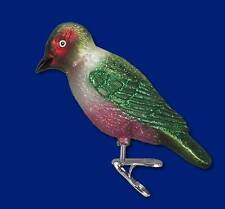 LEWIS'S WOODPECKER BIRD ON CLIP OLD WORLD CHRISTMAS GLASS ORNAMENT NWT 18111