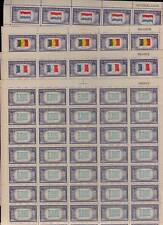 909-21 COMPLETE SET OF 13 SHEETS OF OVER RUN COUNTRY