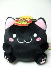 Maruneko Japan Akita Prefecture Black Cat w/ Ogre Mask & Green Veil 16cm Plush