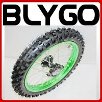 Hmparts Pit Dirt Bike cross Alu Rim Anodised 14 Inch Front Green 12 mm Typ2
