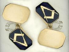 Masonic Cufflinks Yellow Gold Hallmarked Handmade