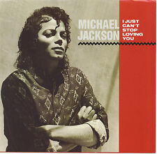 MICHAEL JACKSON  I Just Can't Stop Loving You / Baby Be Mine 45 with PicSleeve