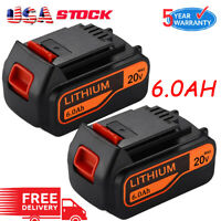 2X FOR BLACK+DECKER 20V LBXR20 LB2X4020 LBXR20-OPE 6.0AH Cordless Li-Ion Battery