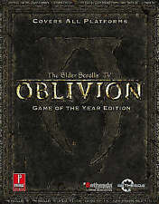 Elder Scrolls IV: Oblivion Game Of The Year Official Game Guide Game Of The Year