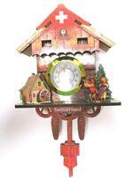 Schweiz Switzerland Kuckucksuhr Holz Magnet Souvenir Suisse,reale Uhr
