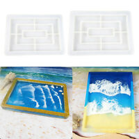 DIY Flexible Silicone Tray Mold Epoxy Resin Casting Mould Jewelry Coaster Crafts