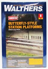 N Scale Walthers Cornerstone 933-3258 Butterfly-Style Station Platform Kit