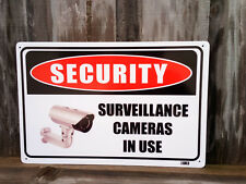 Security Surveillance Cameras In Use Metal Sign 300x225mm Offer & Fast Delivery