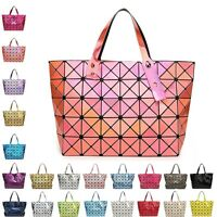 New Quilted Sequin Shoulder Bag Geometric Lattice Laser Ladies Handbag Womens UK