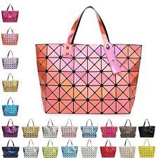 New Quilted Sequin Shoulder Bag Geometric Lattice Laser Ladies Handbag Womens UK