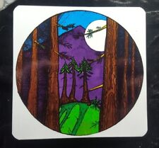 """MOUNTAINS OF THE MOON, Grateful Dead, Two-Way Window Sticker approx 5 1/8"""" x 5"""""""