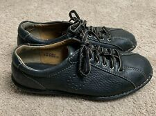 ffe861f481dc1 Born W3643 Black Pebbled Leather Lace-Up Bicycle Toe Casual Oxford Women's  US 9M